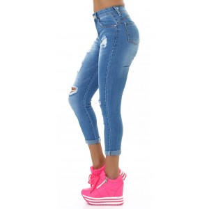 Push Up jeans raztrgane CA806