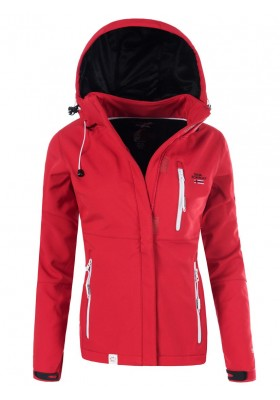 Ženska jakna SOFTSHELL Geographical Norway-RDEČA