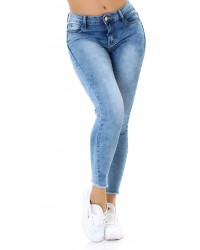 Jeans hlače 7/8 Used Look MG160